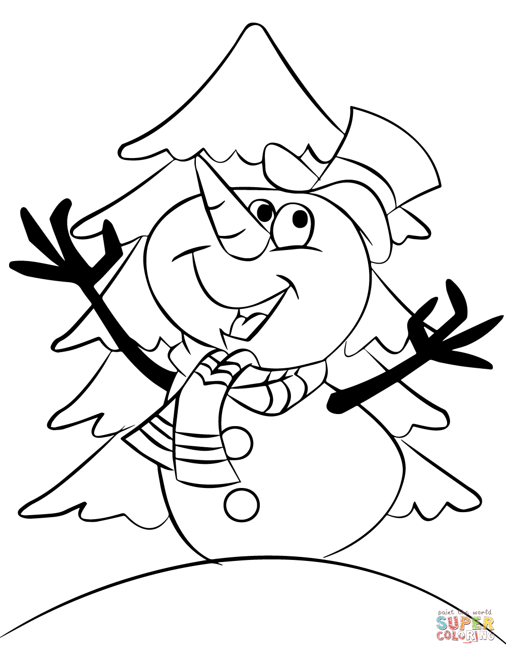 snowman color page blank snowman coloring pages at getcoloringscom free snowman page color