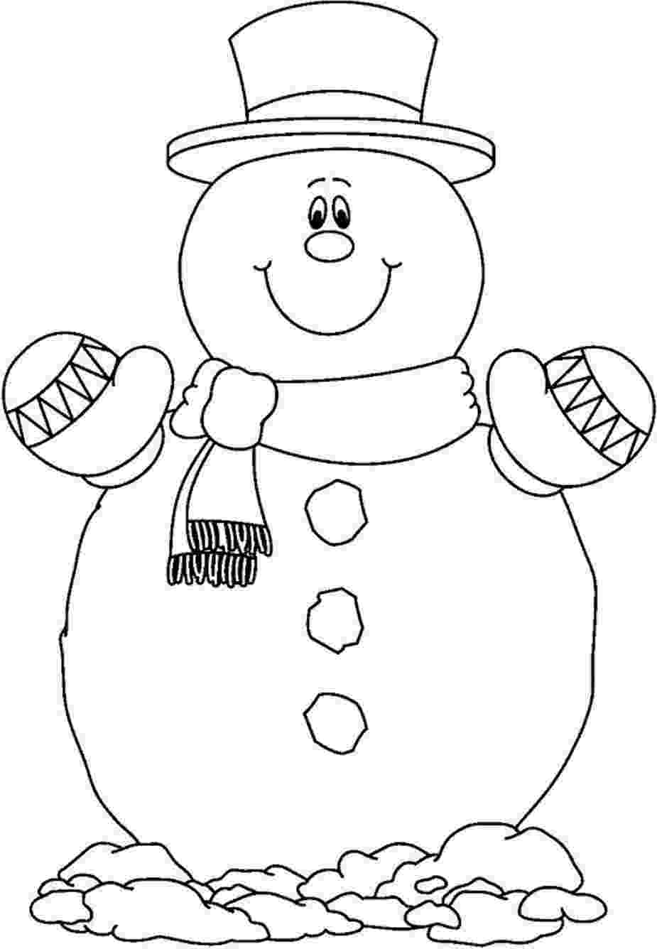 snowman color page making a snowman coloring page crayolacom snowman page color