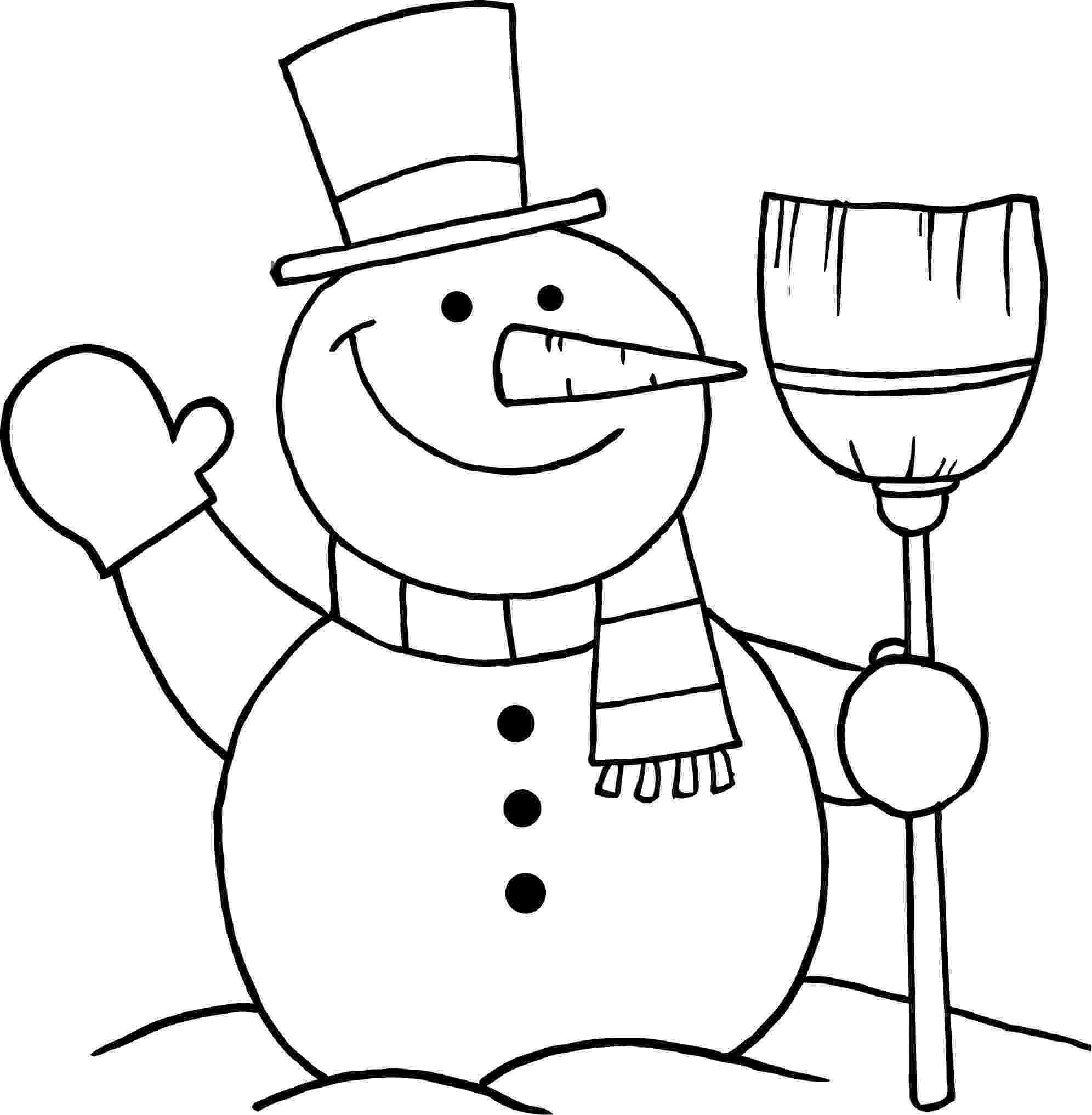 snowman color page snow man line drawing at getdrawingscom free for page snowman color