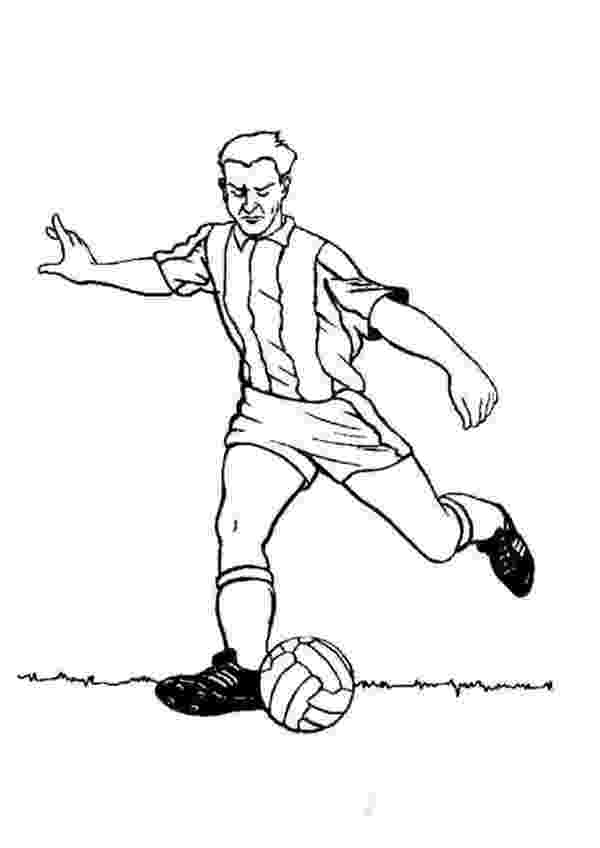 soccer player colouring pages a profesional soccer player doing a long pass coloring soccer player pages colouring
