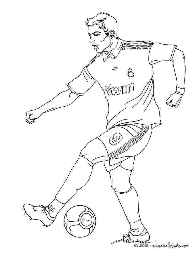soccer player colouring pages christiano ronaldo playing soccer coloring pages player pages soccer colouring
