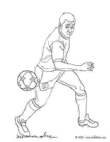 soccer player colouring pages pelé playing soccer coloring pages hellokidscom soccer player colouring pages