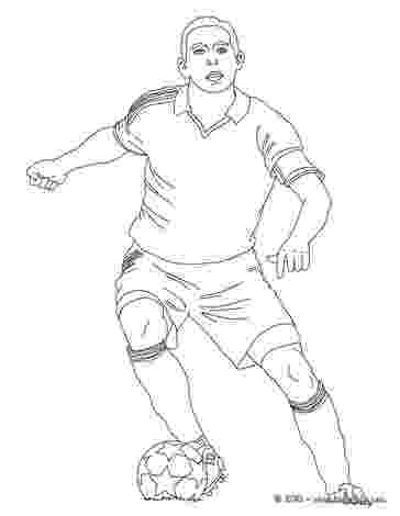 soccer player colouring pages soccer player dribbling coloring pages hellokidscom soccer player colouring pages