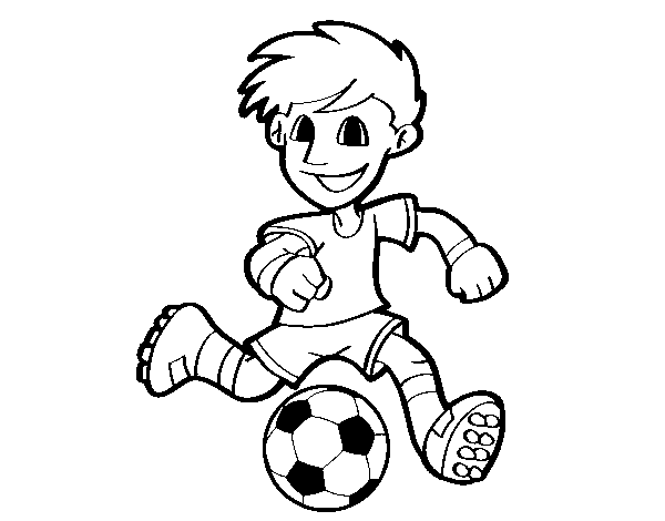 soccer player colouring pages soccer player with ball coloring page player colouring soccer pages