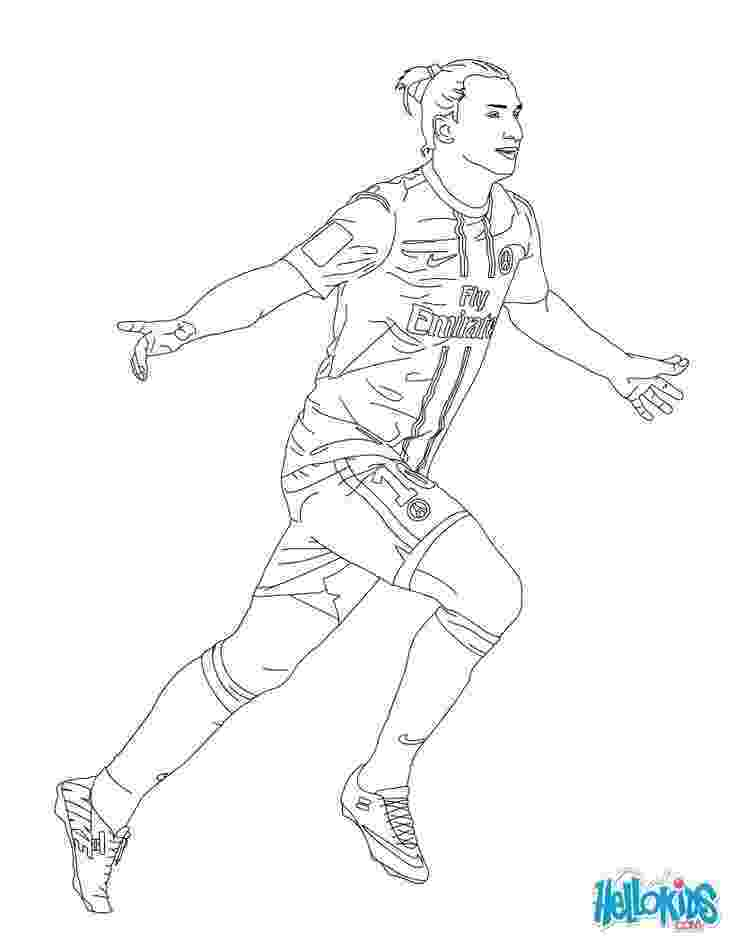 soccer player colouring pages zlatan ibrahimovitch coloring page learn diverse soccer player pages colouring
