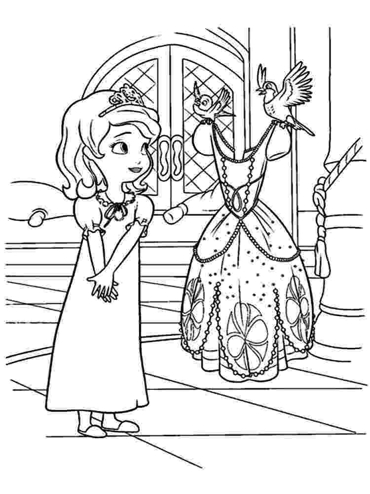 sofia the first coloring princess sofia coloring page free printable coloring pages coloring the first sofia