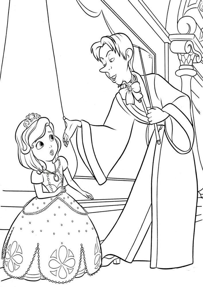 sofia the first coloring princess sofia curtseying coloring page free printable the first sofia coloring