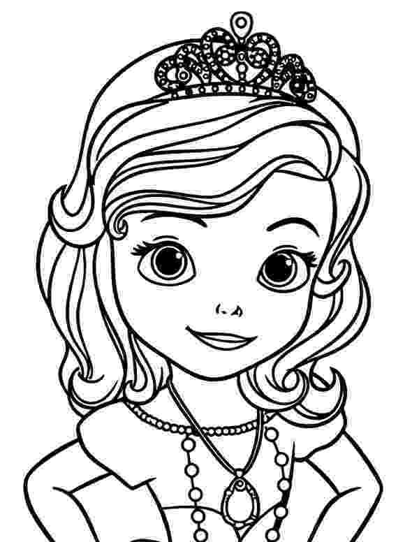 sofia the first coloring princess sofia the first coloring page for kids disney sofia the coloring first
