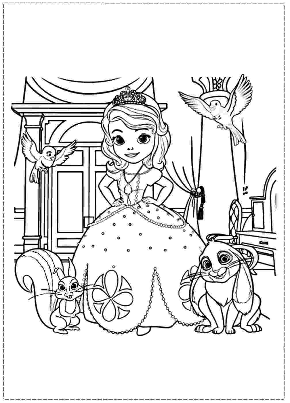 sofia the first colouring pages sofia and clover coloring page free printable coloring pages colouring pages sofia the first