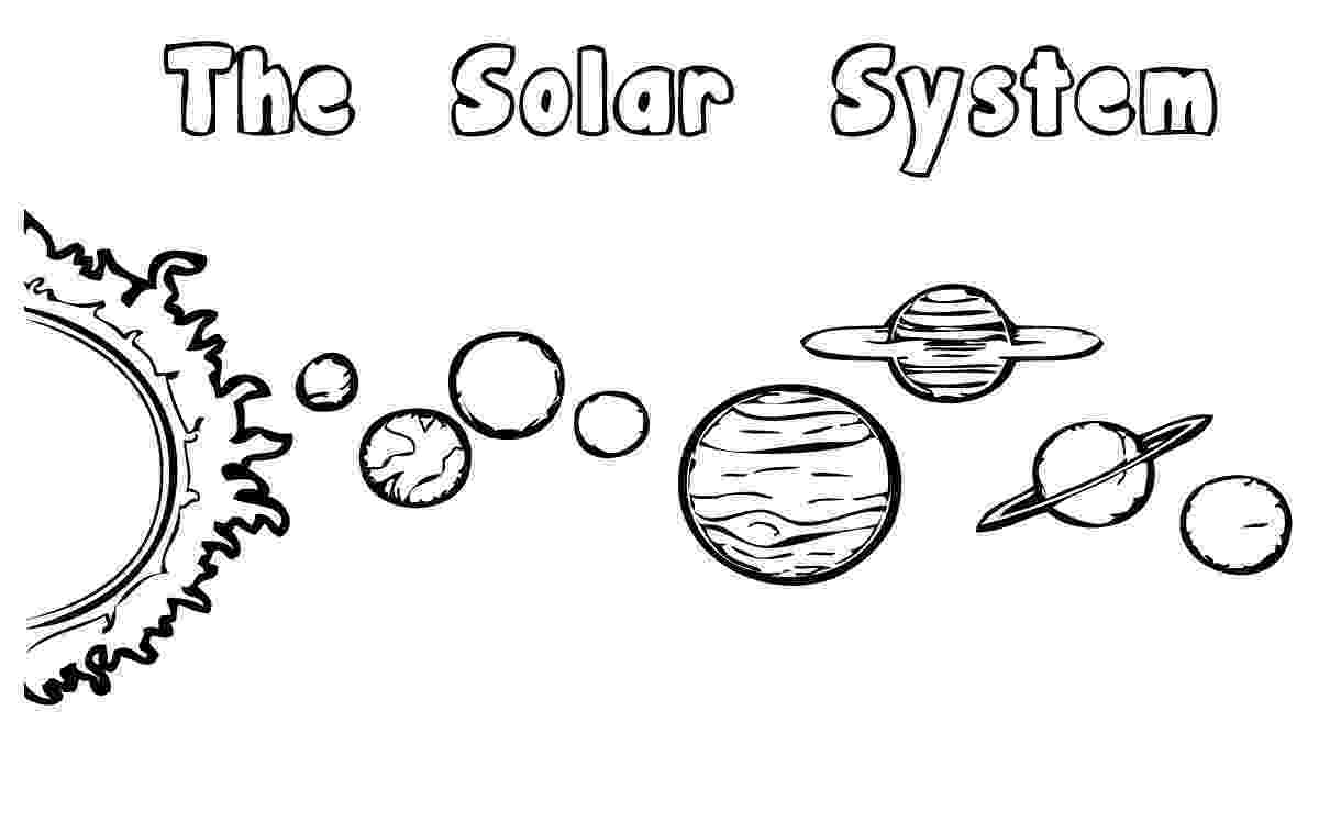 solar system for coloring solar system coloring pages kindergarten at getcolorings system for coloring solar