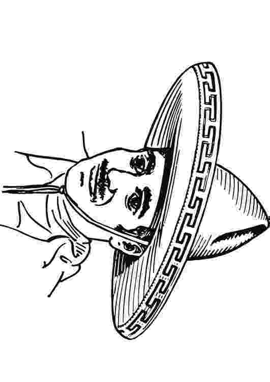 sombrero coloring page image from httpwwwclipartandcraftscomcoloring sombrero coloring page