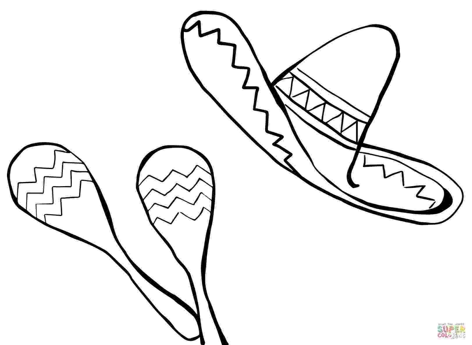 sombrero coloring page printable costume coloring sheets hat and mask pictures coloring sombrero page