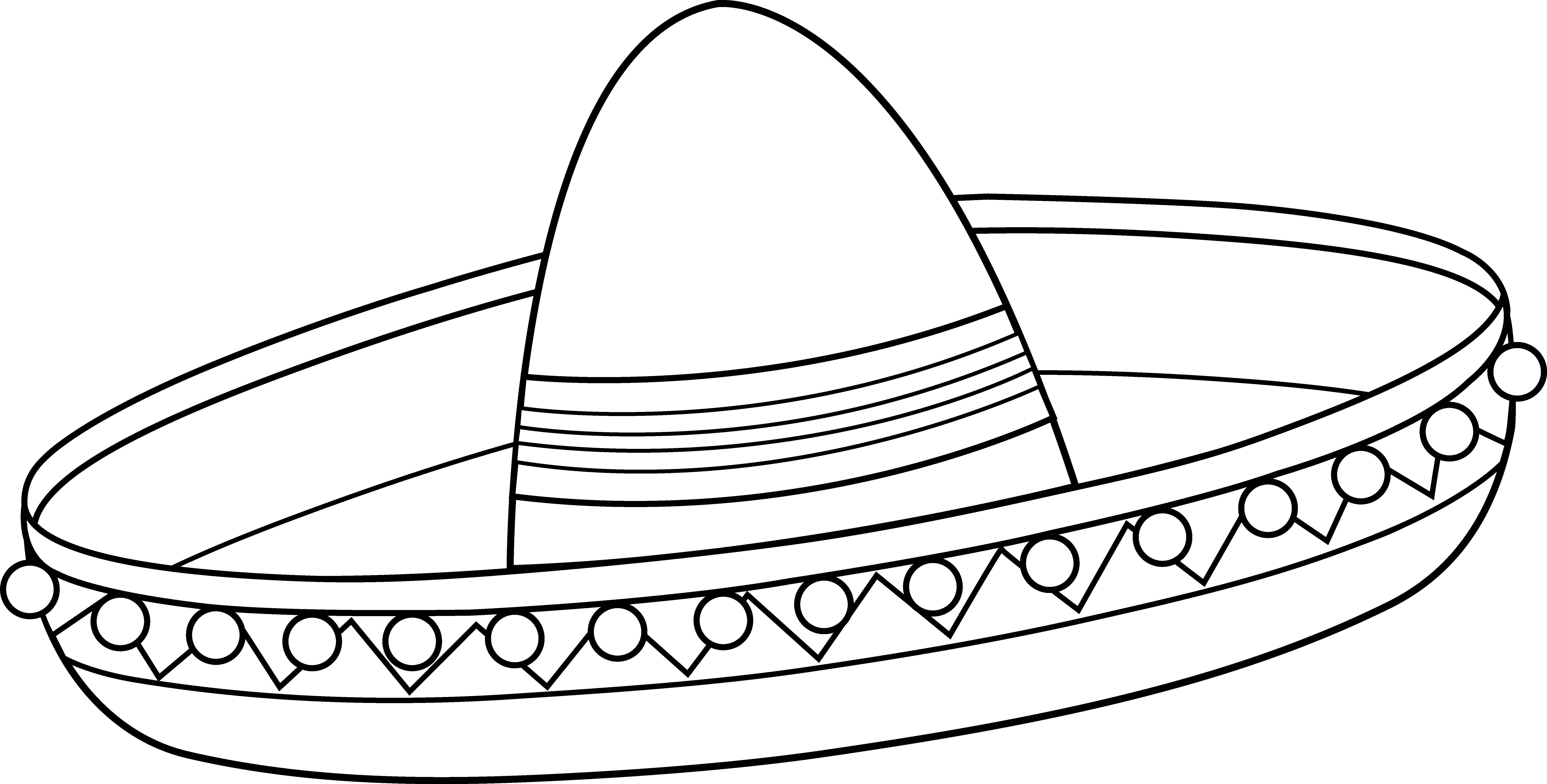 sombrero coloring page sombrero coloring page coloring pages kindergarten sombrero page coloring