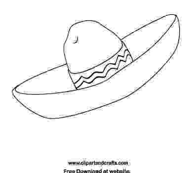 sombrero coloring page sombrero mexican hat coloring page cinco de mayo craft sombrero coloring page