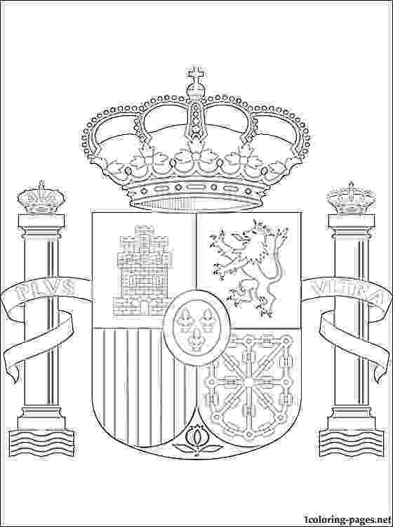 spain flag emblem coloring page coloring page of spain flag free coloring pages emblem spain flag coloring page
