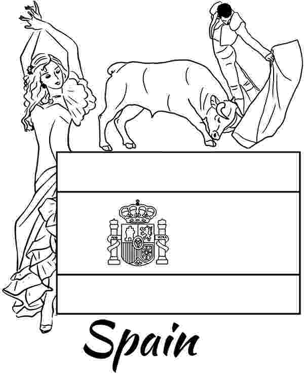 spain flag emblem coloring page spanish flag and national symbols educational coloring pages emblem coloring spain flag page