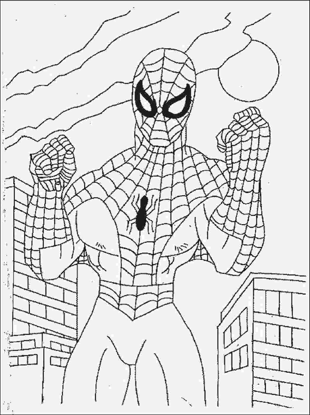 spider man coloring sheet free printable spiderman coloring pages for kids man spider sheet coloring