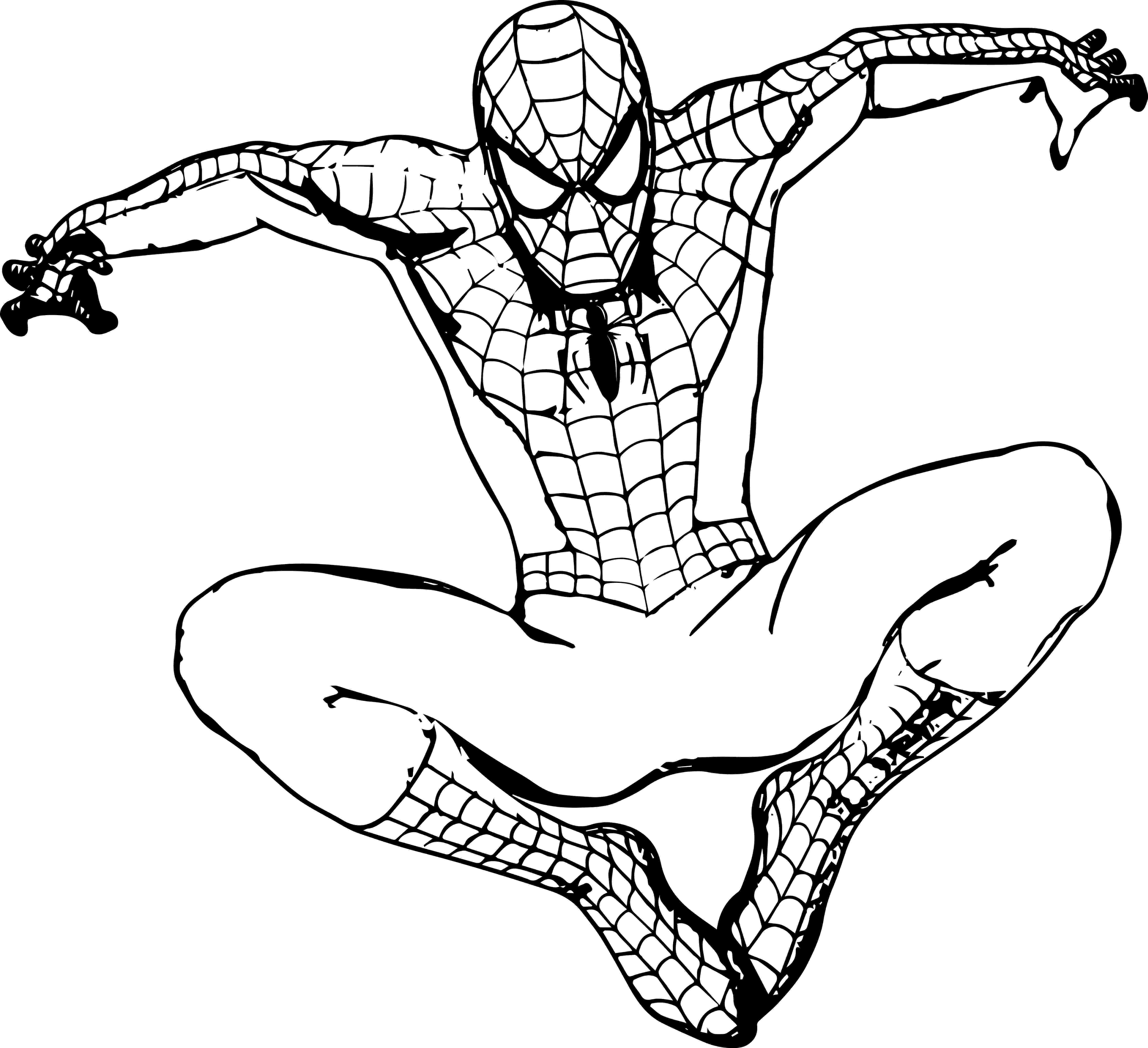 spiderman picture to color coloring pages spiderman free printable coloring pages picture color to spiderman