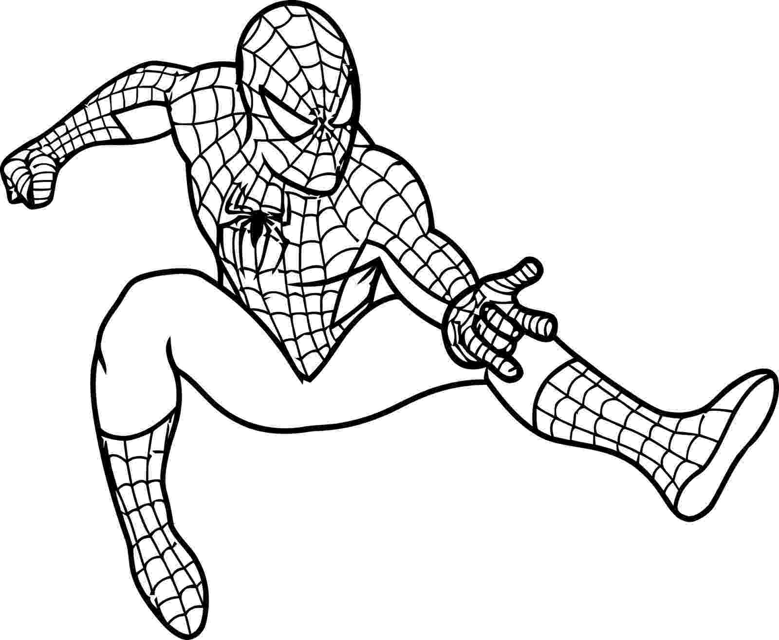 spiderman picture to color coloring pictures of spiderman coloring pages spiderman picture to color