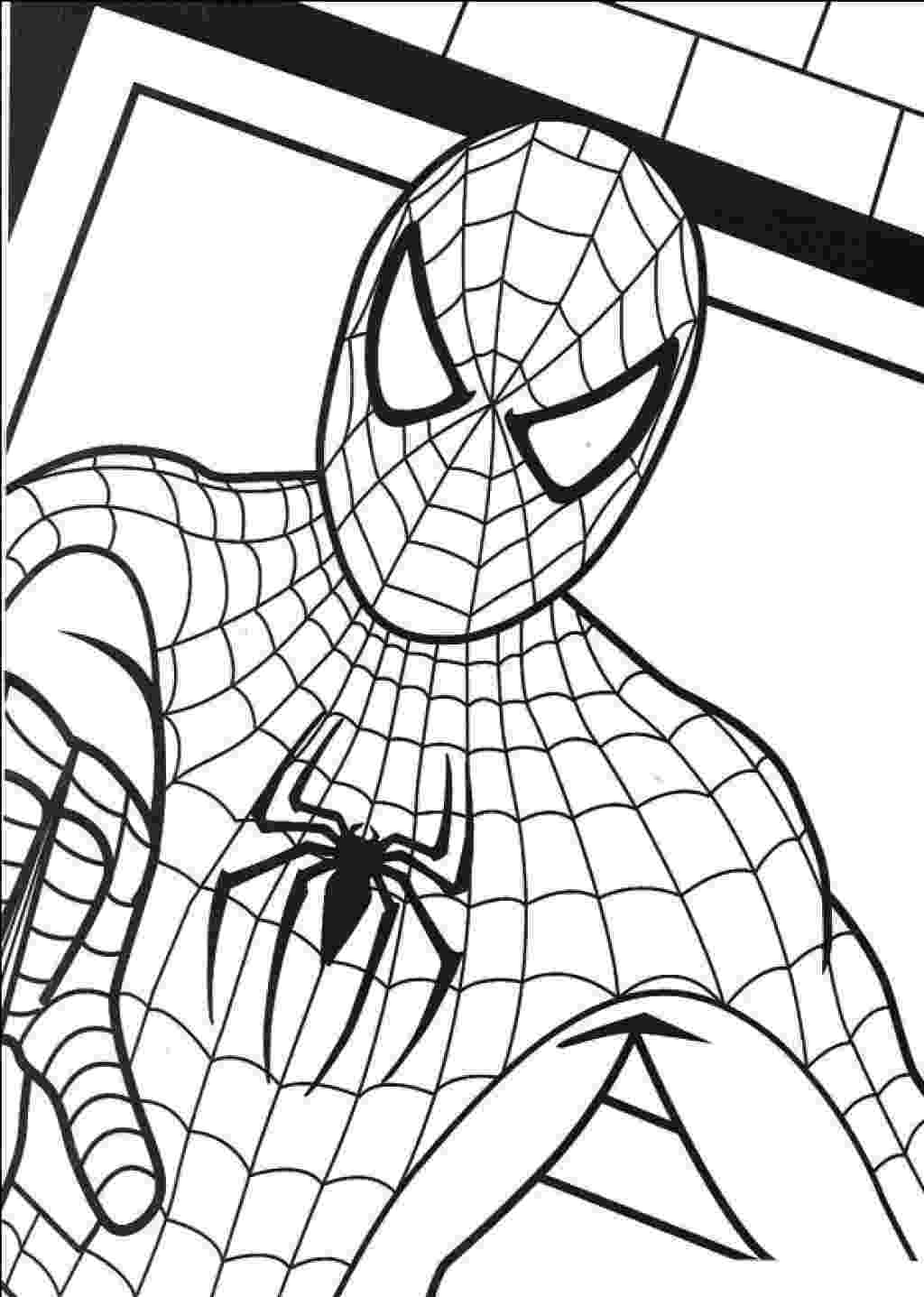 spiderman picture to color spider man coloring pages print and colorcom spiderman picture to color