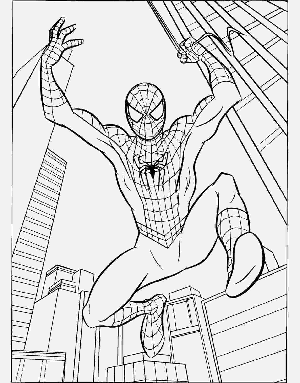 spiderman picture to color spiderman cartoon drawing at getdrawingscom free for picture spiderman color to