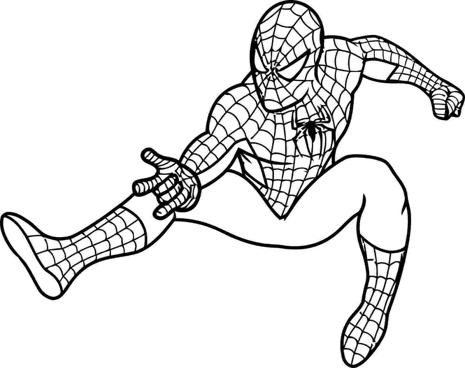 spiderman picture to color spiderman coloring pages team colors picture spiderman to color