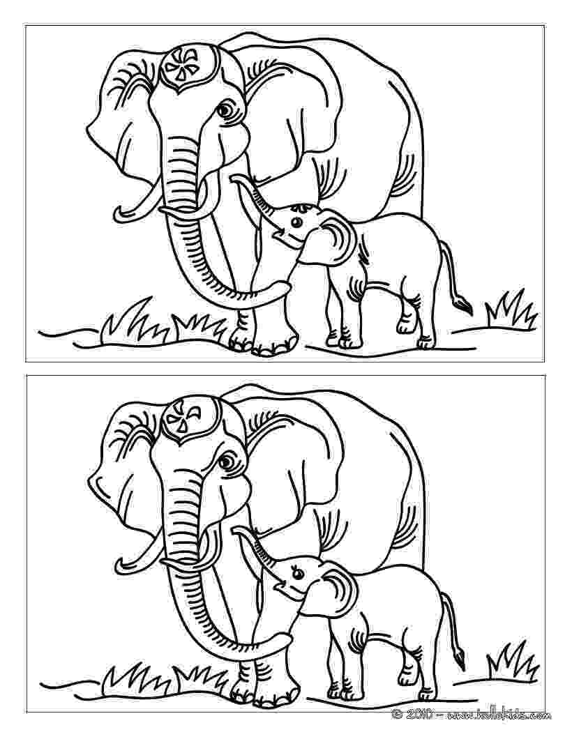 spot the difference printable elephant find the 12 differences online games hellokidscom difference the printable spot