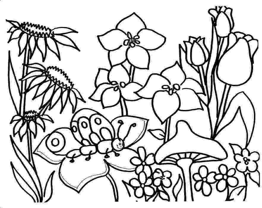 spring flower coloring pages dancing flowers spring coloring sheet allfreekidscraftscom spring pages coloring flower