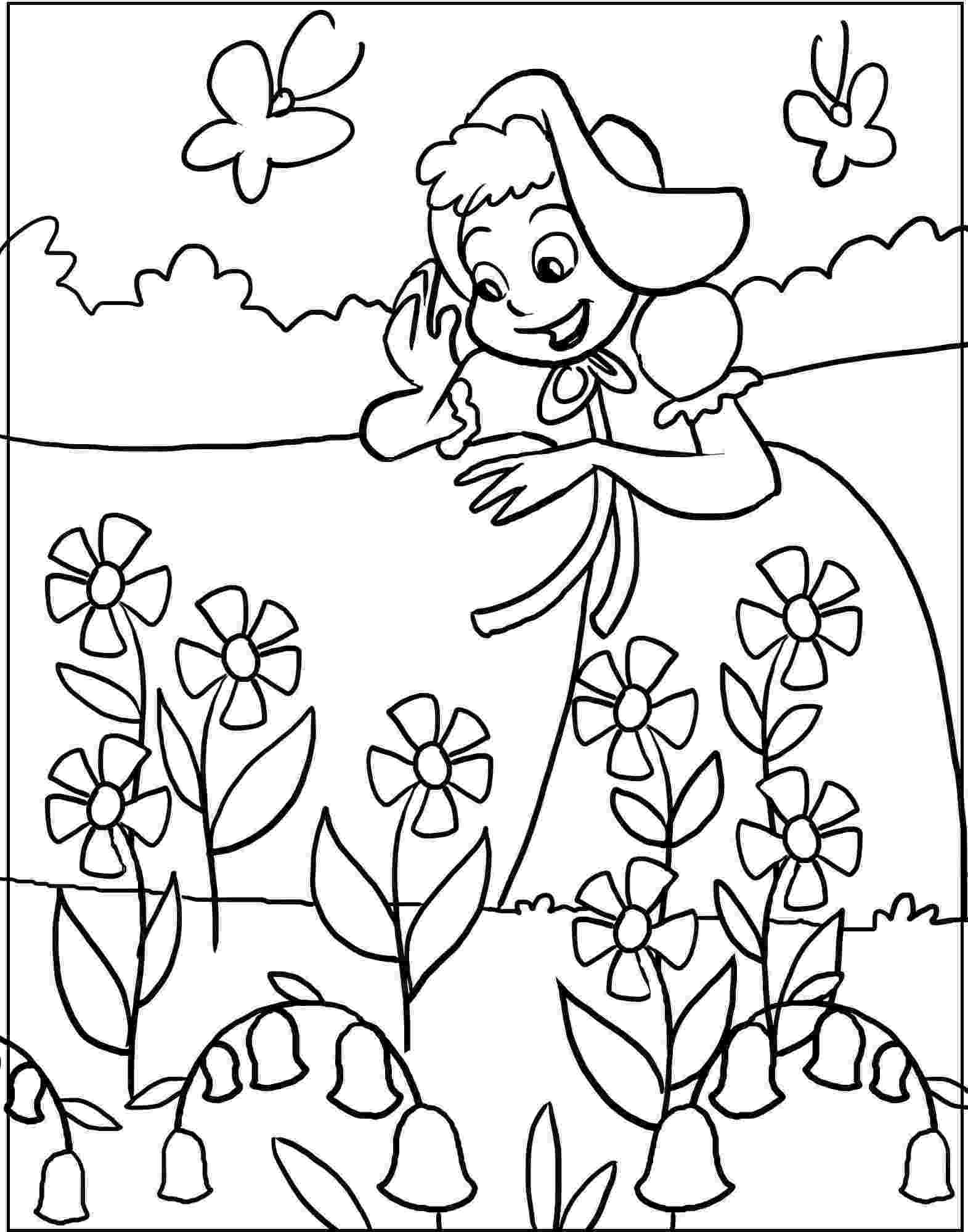 spring flower coloring pages spring flowers drawing at getdrawingscom free for pages coloring flower spring