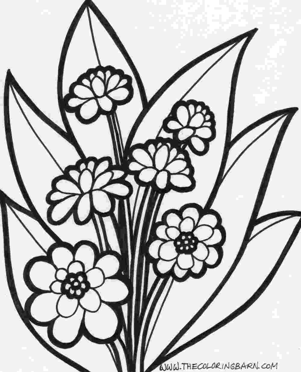 spring flowers coloring pages to print coloring pages spring coloring pages to download and to spring print pages flowers coloring