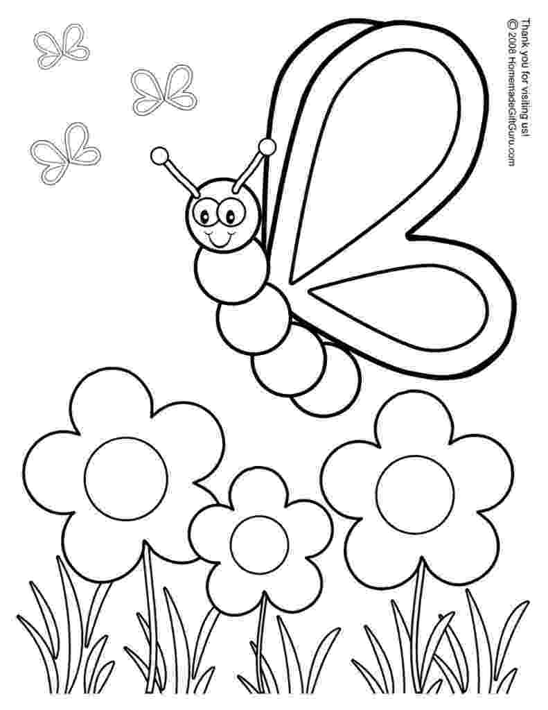 spring flowers printable coloring pages free spring clip art flowers butterflies easter more flowers spring pages printable coloring