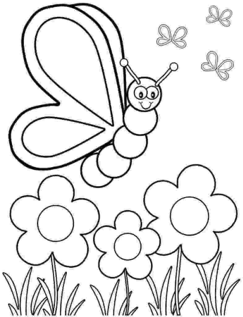 spring flowers printable coloring pages spring flowers coloring pages for kids printable free pages flowers printable spring coloring