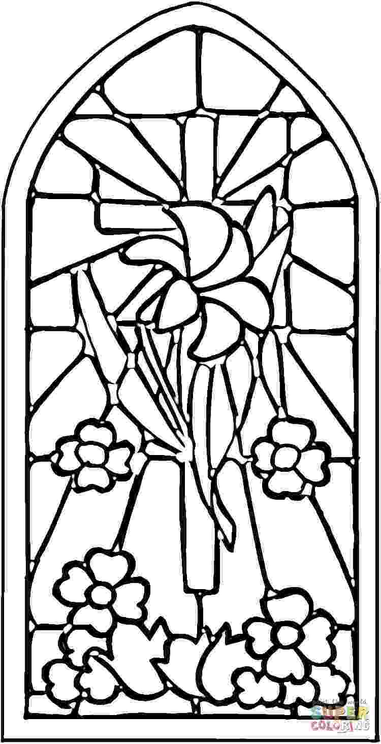 stained glass pictures to color printable stained glass window coloring page coloring home to glass pictures stained color