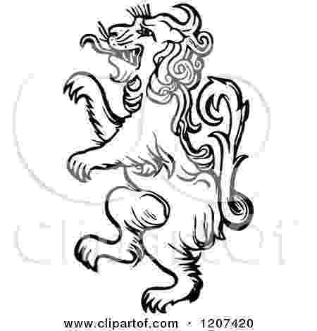 standing lion royalty free stock illustrations of animals by prawny lion standing