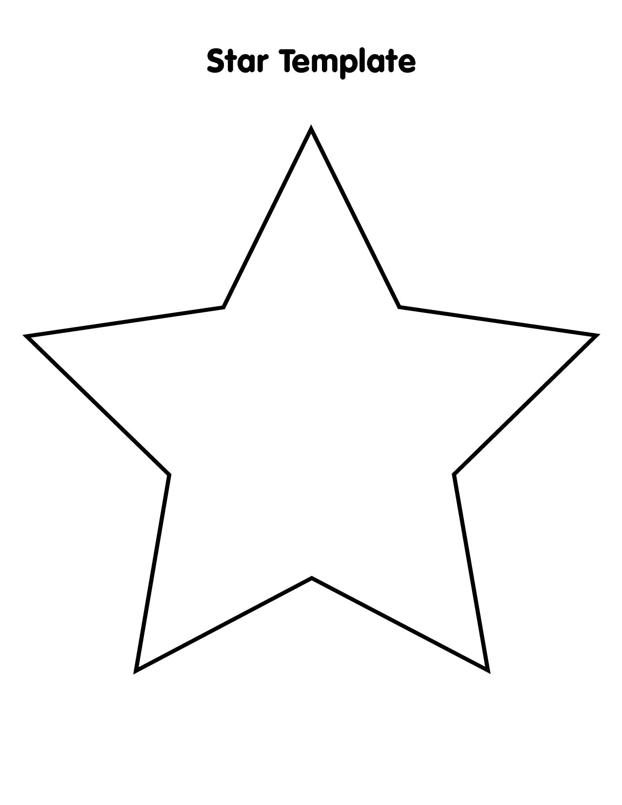 star template free printable star template 7 inch tim39s printables printable star free template