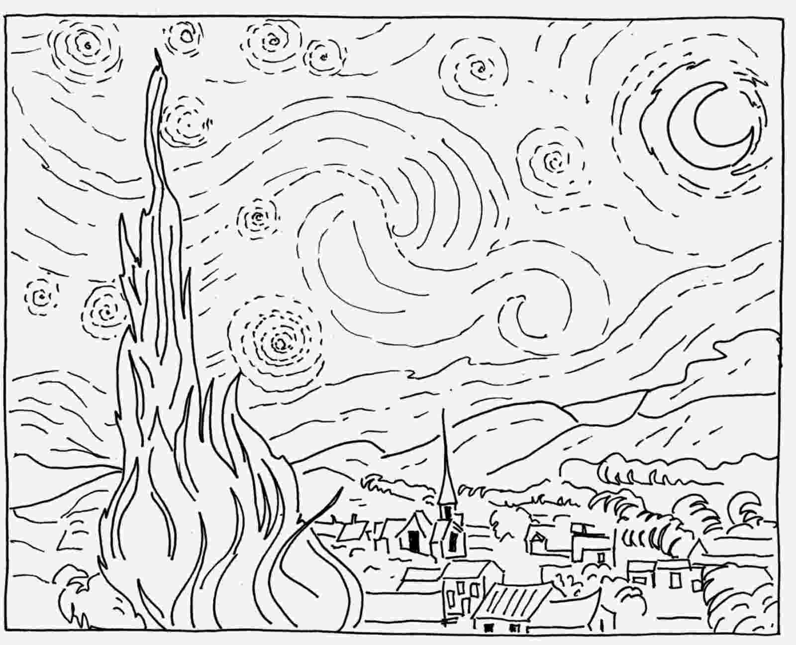 starry night coloring page art coloring pages night coloring starry page