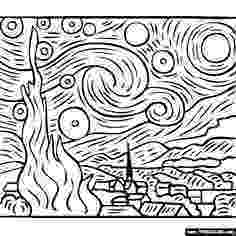 starry night coloring page click to see printable version of starry night by vincent page starry night coloring
