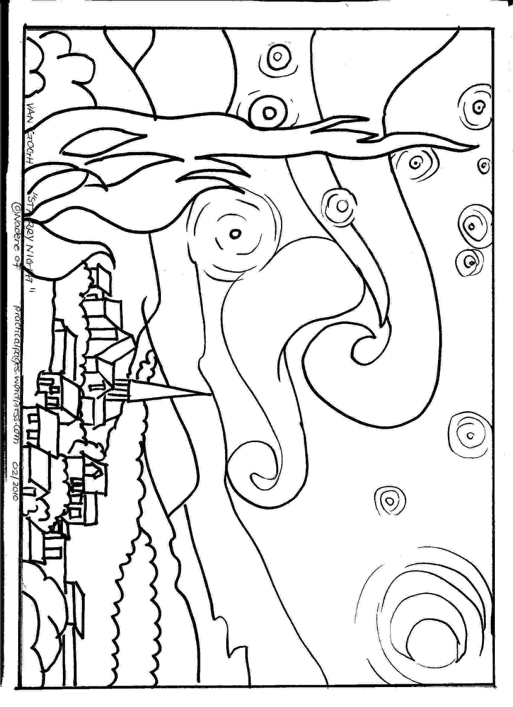 starry night coloring page kleurplaat starry night gratis kleurplaten om te printen night coloring starry page
