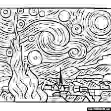 starry night coloring page starry night coloring pages pinterest coloring starry night page