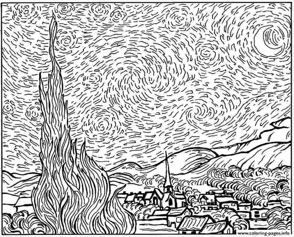starry night coloring page starry night coloring sheet tgkrco starry page night coloring