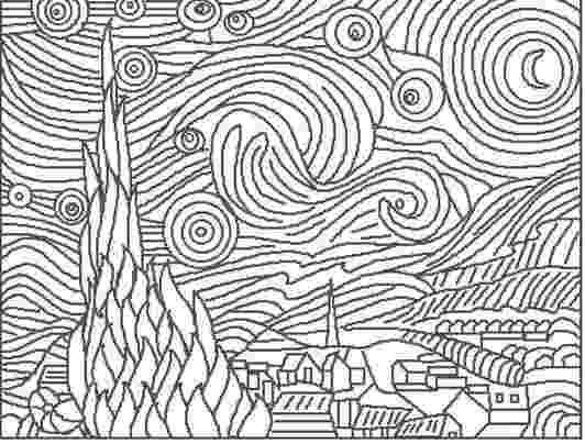 starry night coloring page starry night drawing at getdrawings free download starry page coloring night