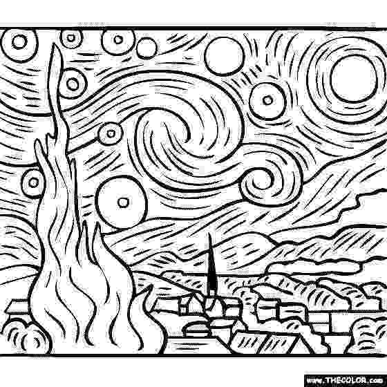 starry night coloring page starry night practical pages page coloring starry night