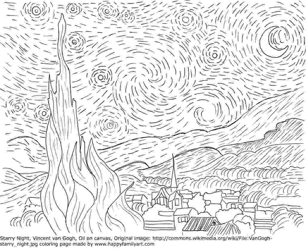 starry night coloring page van gogh starry night large masterpieces adult coloring page night starry coloring