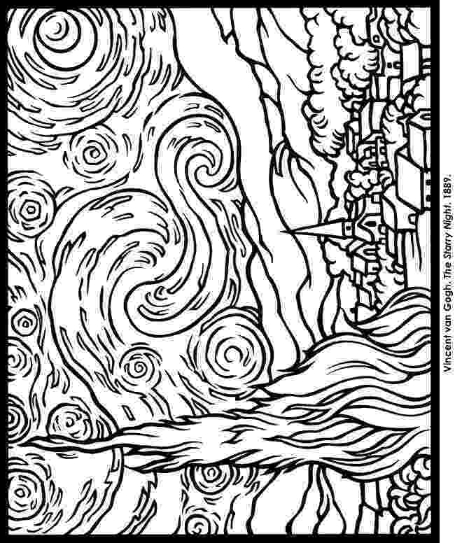 starry night coloring page vangoghstarrynightmedium happy family art coloring night page starry
