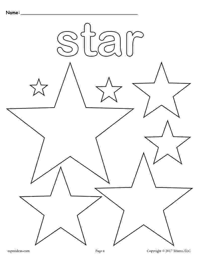 stars to colour and print free printable star coloring pages for kids stars print to colour and