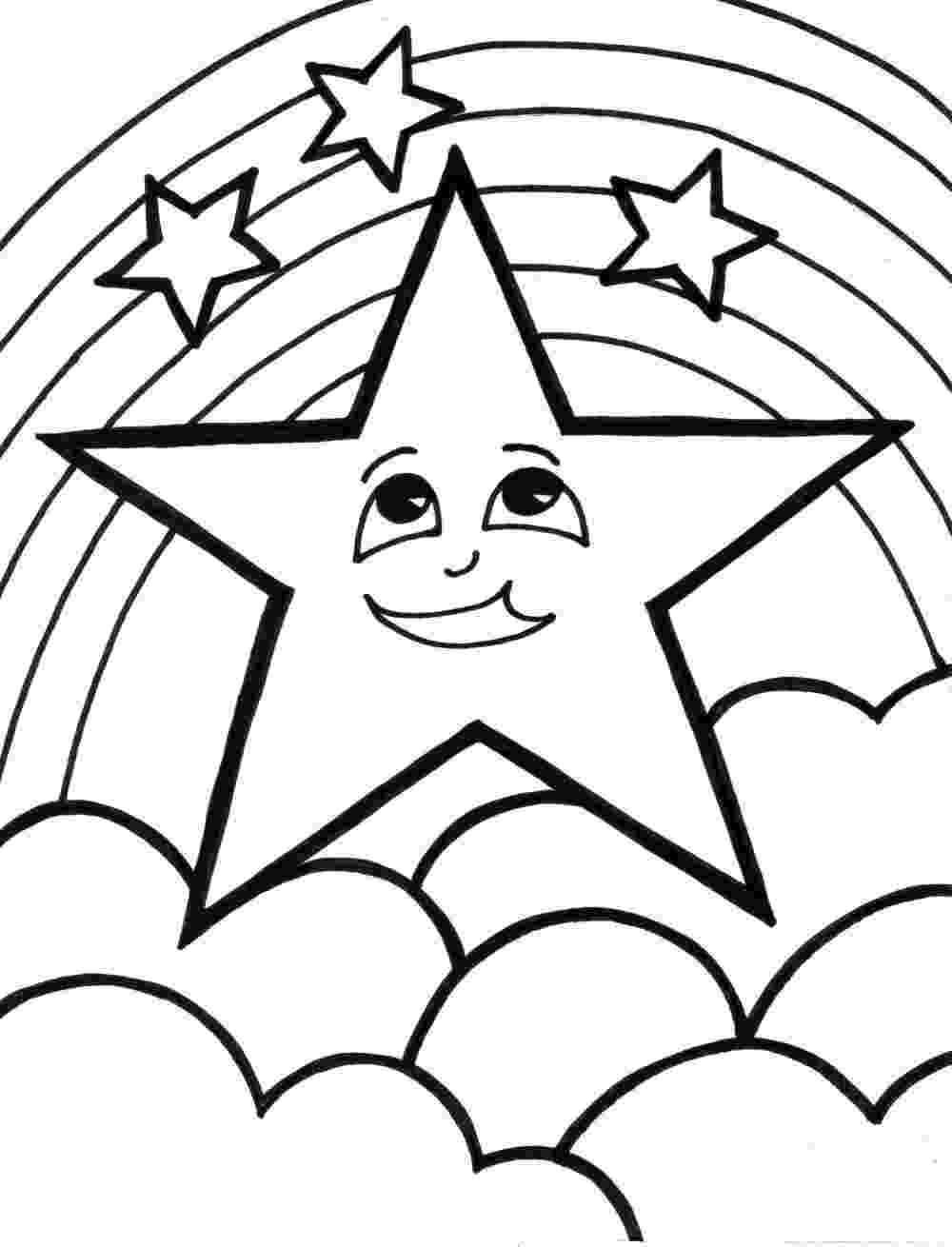 stars to colour and print pin by joan keller on educational coloring pages for kids to and colour print stars