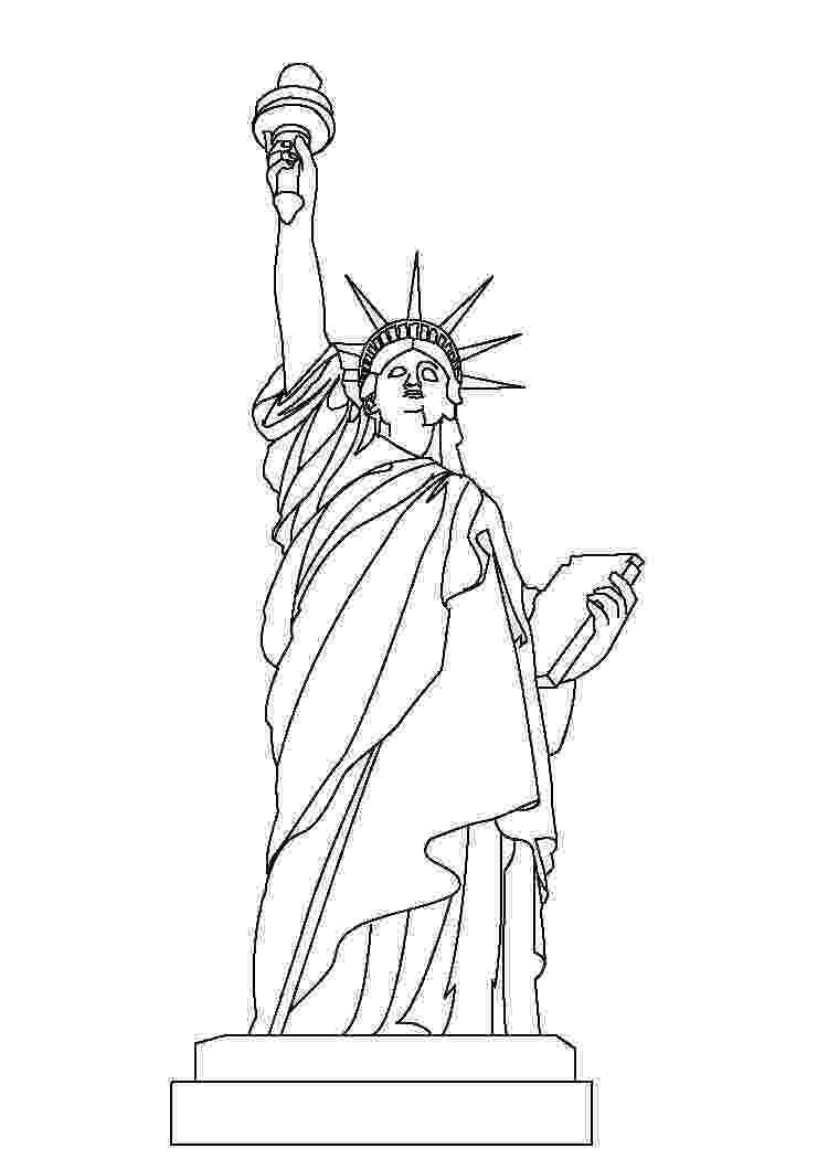 statue of liberty colouring pages free printable statue of liberty coloring pages for kids statue colouring liberty pages of