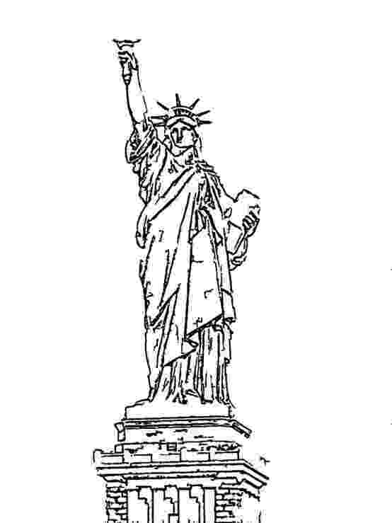 statue of liberty colouring pages statue of liberty coloring pages getcoloringpagescom liberty of pages colouring statue