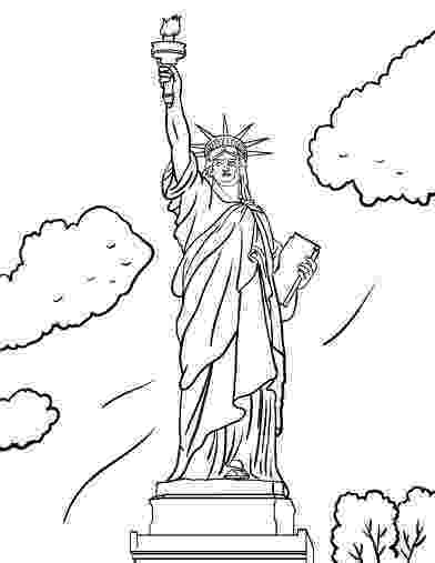 statue of liberty colouring pages statue of liberty in new york coloring page free liberty pages statue colouring of
