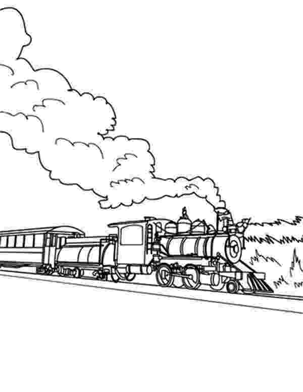 steam locomotive coloring pages long steam train on railroad coloring page color luna locomotive pages steam coloring